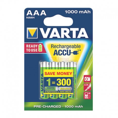 ACCU PHOTO AAA HR03 1000 Mah Bx4