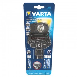 Lampe frontale LED 1W Indestructible Varta + 3 LR03