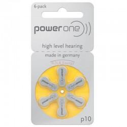 Pile acoustique Zinc-Air 1.4V Power one 10 PR70 (Plaquette de 6)