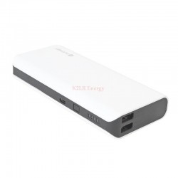 PLATINET POWER BANK 10000mAh DUAL USB 1A & 2.1A BLANC