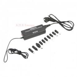 Chargeur universel 90W pour PC 9,5 à 20V + 11 embouts + USB + CABLE