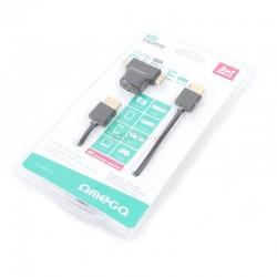 CABLE HDMI v1.4 1,8M+ ADAPTATEUR MICRO/MINI HDMI