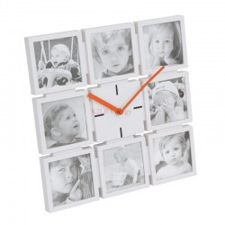 PLATINET HORLOGE FAMILY POUR 8 PHOTOS