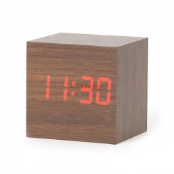 Omega Wood Alarm Clock