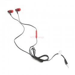 Ecouteurs intra-auriculaires + micro noir