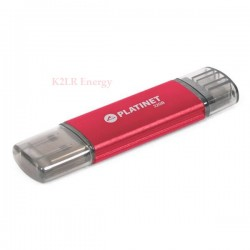 Clé USB + micro USB 32GB rouge